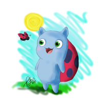 FanArt Friday: Catbug! by diegio1996