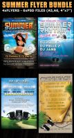 Summer Party Flyers Bundle by Hotpindesigns