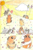 Guinea Pig Picnic by DracoJane7