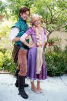 Flynn Rider and Rapunzel by Chingrish
