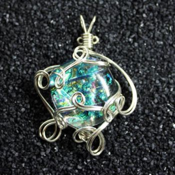 Wire Wrap Glass Pendant by Create-A-Pendant