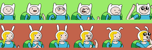 Adventure Time RPG Mugshots: Finn and Fionna by tebited15