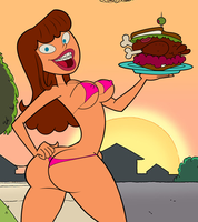 Uncle Grandpa: Sexy Babysitter Lady Bikini by grimphantom
