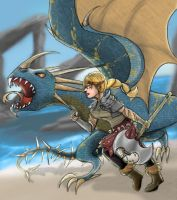 Astrid + Stormfly by CrownePrince