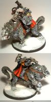 Space wolves: Lord on Thunderwolve conversion by TheBl4ckCat