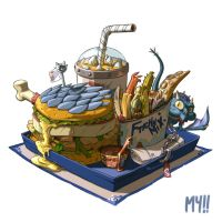 Noz dragoon burger by MoonYeah