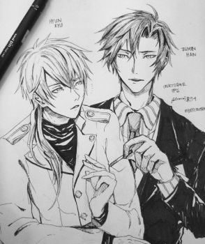 zen and jumin by FeliciaXD