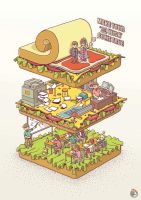 Birthday Sandwich by BIGMOUTH-design