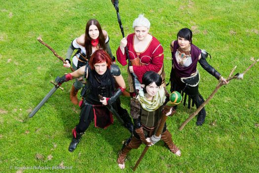4 Mages and 1 Grey Warden ready to fight! by LadyTenebraeTabris
