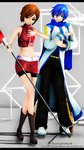 Meiko and Kaito - first generation [HD] by ShootingStarBlue