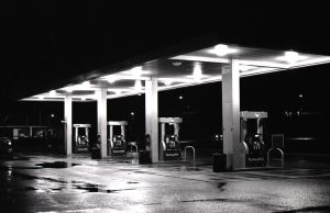 Gas Station. by ippiki-wolf