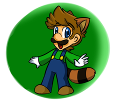 raccoon luigi something... by MariobrosYaoiFan12