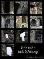 Stock Pack - Walls and Archways by rockgem