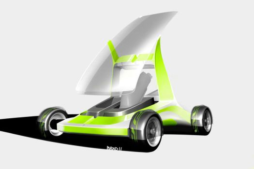Golf Buggy Concept Front 3-4 by bradders31