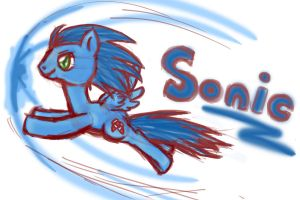 Sonic the Hedgehog Pony style by Shadaily