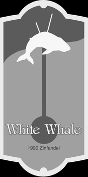 White Whale Wine Label by gienahclarette