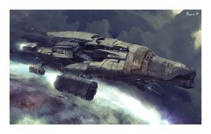 SF SpaceCraft sketch by samice