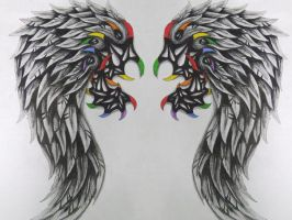 tribal wings by vegasbaby