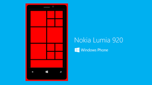 Powerpoint Art - Lumia 920 (Red) by moozdeviant