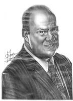 ECW/ WWE Paul Heyman Pencil Drawing by Chirantha