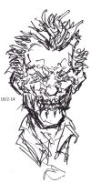 Grotesque Joker Rough Sketch by Jeppe Roemer by TolkyJr
