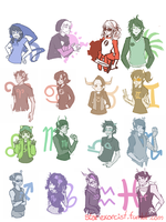 Homestuck Beta Timeline Genderswaps by starexorcist