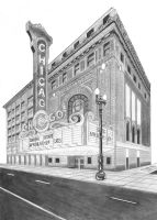 Chicago Theatre Rendering by Cl0ver