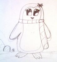 Cute Penguin Doodle by NintendoLover13