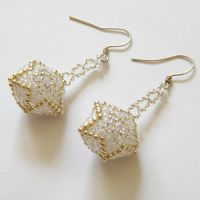 Neve earrings with beaded beads by Sol89