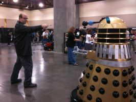 The Doctor VS A Dalek by PurgatoryDean