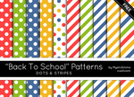 Back To School Dots And Stripes Patterns by MysticEmma