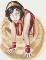 Toph 'Earth Sight' by FarahBoom