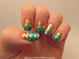 Gradient Tape Nails by QueenAliceOfAwesome