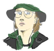 Coloring Daniel Jackson by corbeauprophet