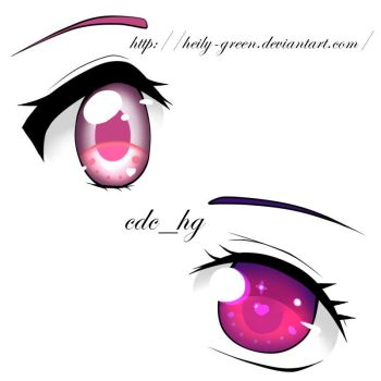Practicing eyes By : Heily - Green by Heily-Green