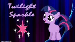 Twilight Sparkle Filly Ponytail Wallpaper by brightrai