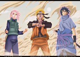 Collab : Naruto 632 - Team 7 by xTheMagicianx