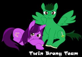 Twin brony team by moonlady85