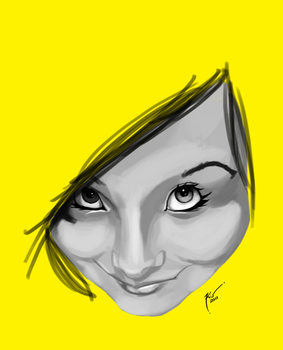 Female Face - Yellow by pokerins