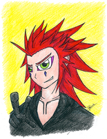 Art Request - KH's Axel by memphiskite