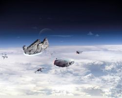 Escape From Hoth-Revisited by 1darthvader