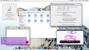 Snow Leopard Theme for Mavericks by rhubarb-leaf