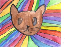 Rainbow Cat by Invader-Sky