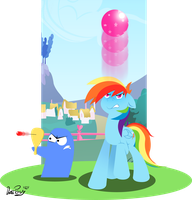 [MLPxFoster's]Rainbow Dash and Bloo by DatPonyPL