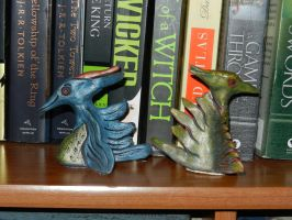 blue and green dragon 3 by dottypurrs