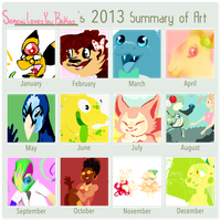 Senpai's 2013 Summary of Art by sIurpuff