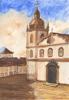 Church Watercolour by LilianNogueira