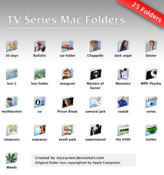 TV Series Mac Folders by Myssynen