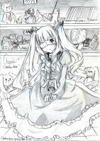 Rie with the rabbit XD by ChinekoChan