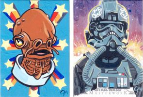 Topps Star Wars Masterwork Sketch Cards by Straycatstudio